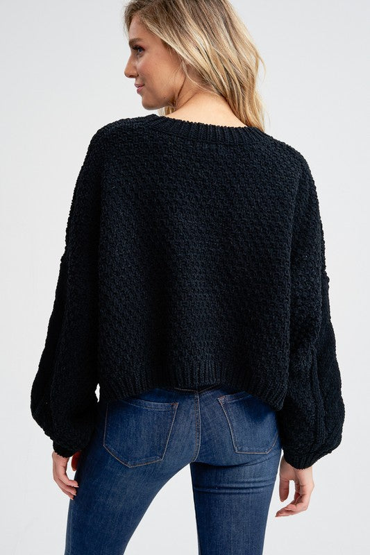 Jamie Puff Sleeve Sweater