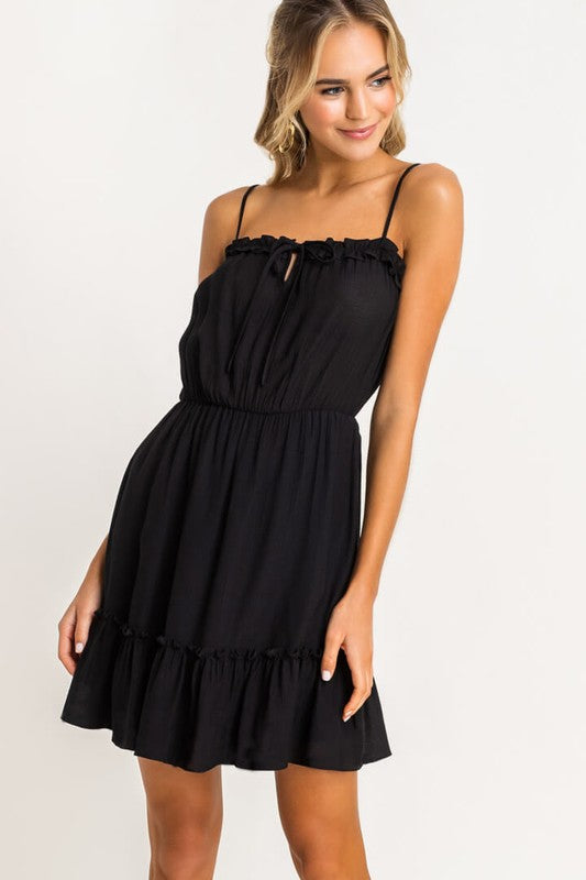 Black Tiered Mini Dress