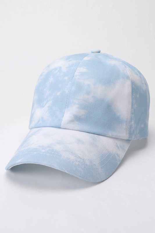 Dusty Blue Tie Dye Hat