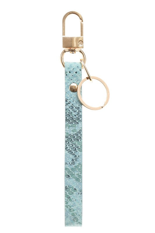 Blue Wristlet Key Chain