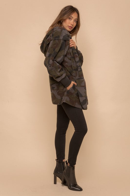 Camo Open Sherpa Jacket