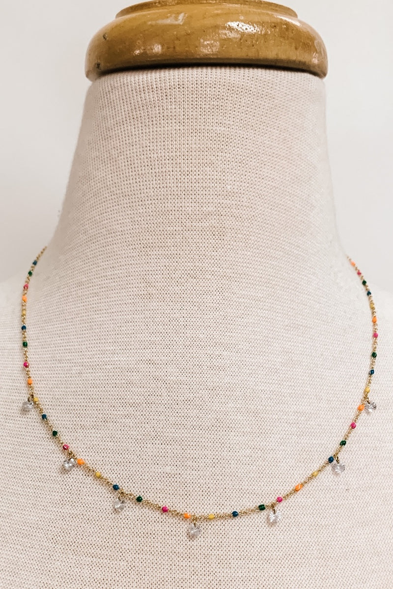 Multi Color Crystal Necklace