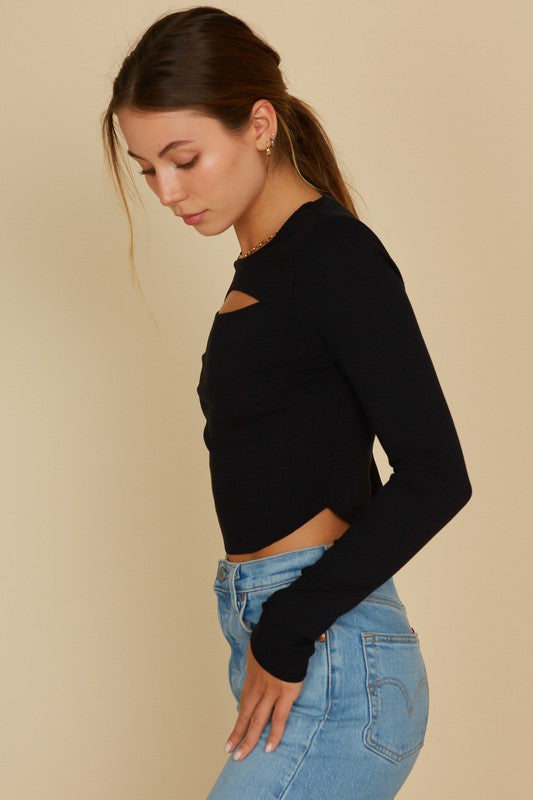 Rosie Cut Out Crop Top