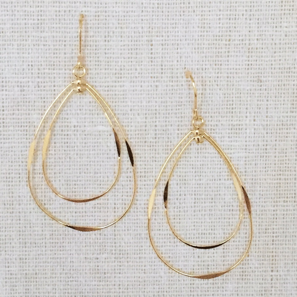 Eve Gold Teardrop Earrings