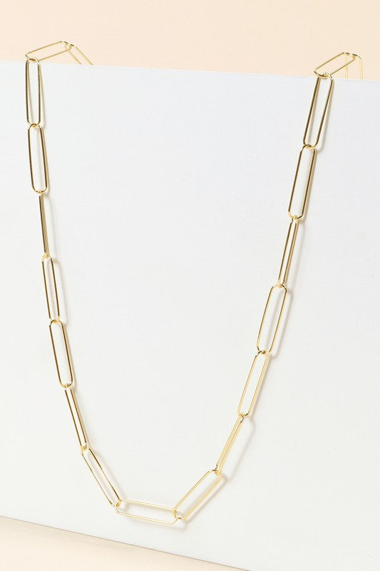 Gold Chain Linked Necklace