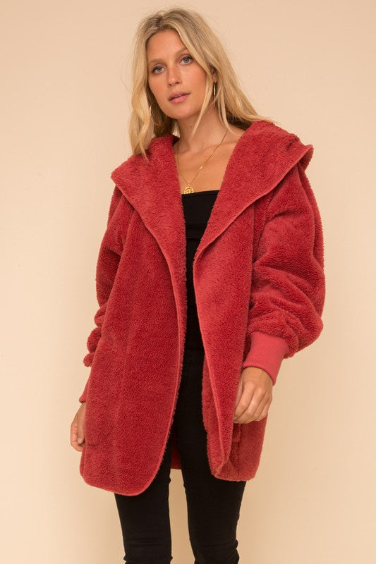 Vintage Red Sherpa Jacket