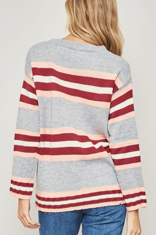 Polly Striped Knit Sweater