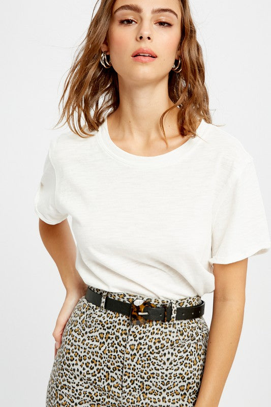 Tessa White Basic T-Shirt