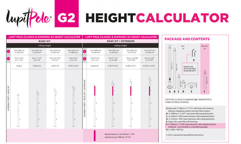 Lupit Pole Height Calculator