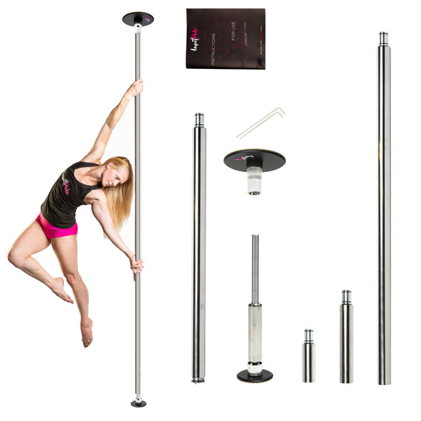 CHROME I FLOOR TO CEILING MOUNTED POLE | LUPIT POLE