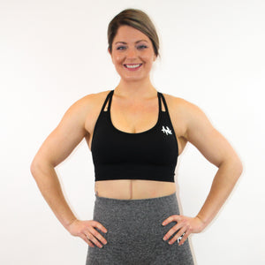 ESSENTIALS CROP TOP - BLACK - AMBR DESIGNS