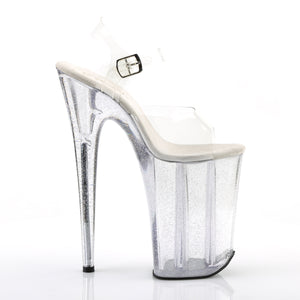 INFINITY-908MG | 9 INCH  CLEAR/CLEAR PLATFORM HEEL
