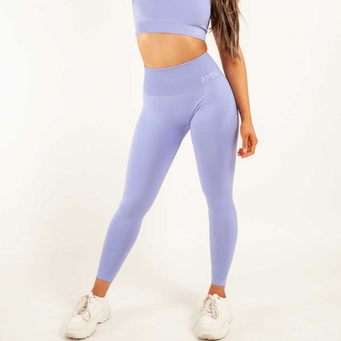 LEGGINGS IN A LILAC TONE - ESSENTIAL COLLECTION - AMBR DESIGNS
