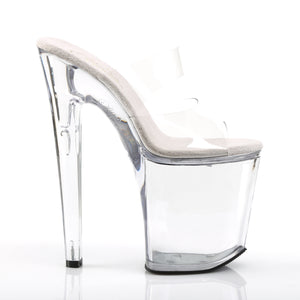 XTREME-802 | 8 INCH  CLEAR/CLEAR PLATFORM HEEL