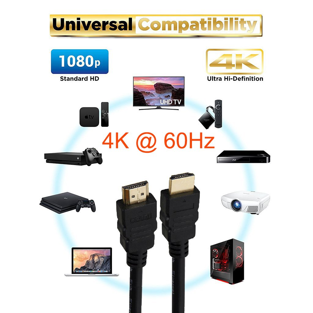 HDMI Cable High Speed w/Ethernet 28AWG CL3 4K 60Hz Application