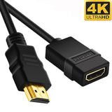 HDMI Cable Extension High Speed w/Ethernet 28AWG CL3/FT4 4K 60Hz - EWAAY.COM