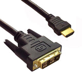 HDMI to DVI-D Cable Single Link M/M Gold Plated - EWAAY.COM