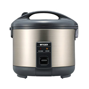 Tiger Rice Cooker and Warmer Stainless Steel 3 Cup, 5.5 Cup, 8 Cup, 10 Cup - EWAAY.COM
