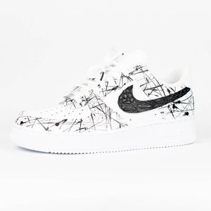 Air Force 1 white 'Splattered black croc'