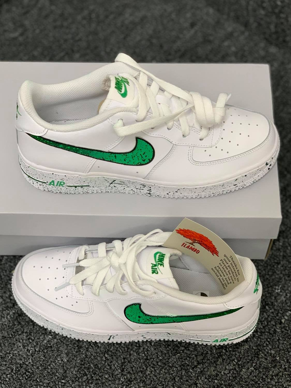 Air Force 1 Green Splatter