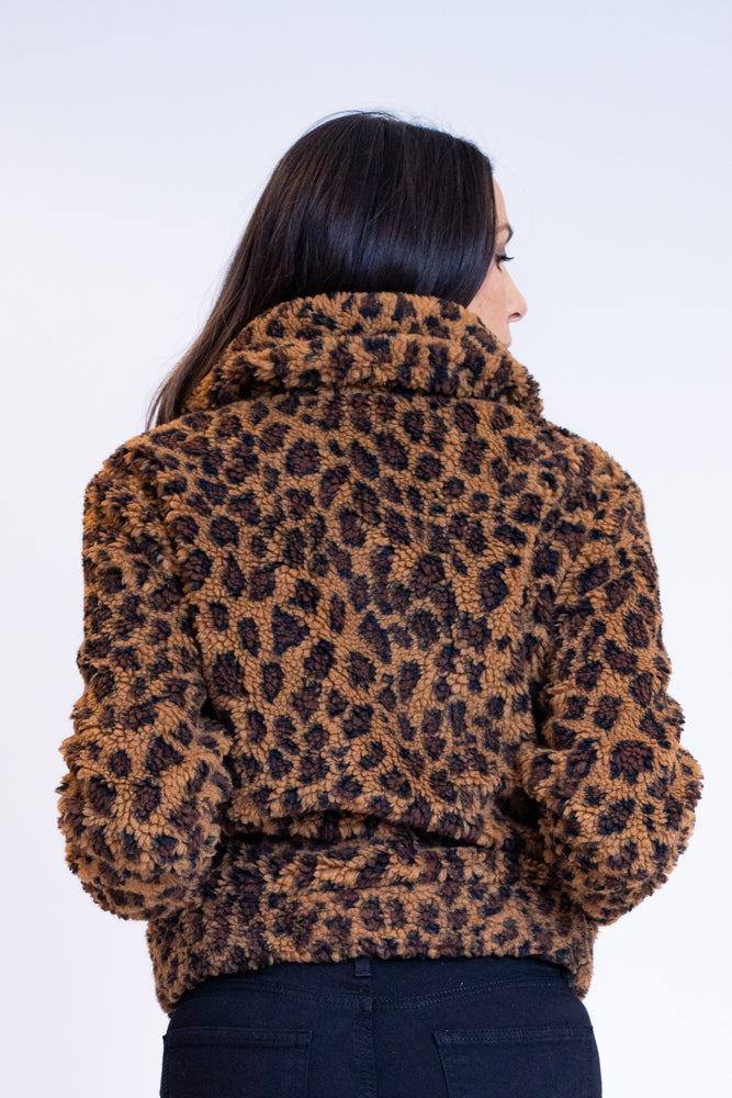 Leopard Teddy Jacket - Rivet Collective