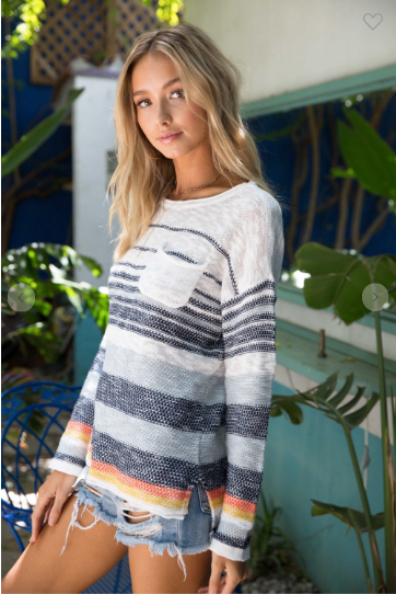 Striped Ocean Drive Sweater