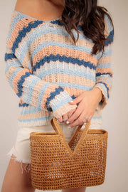 off the shoulder sweater for vacation