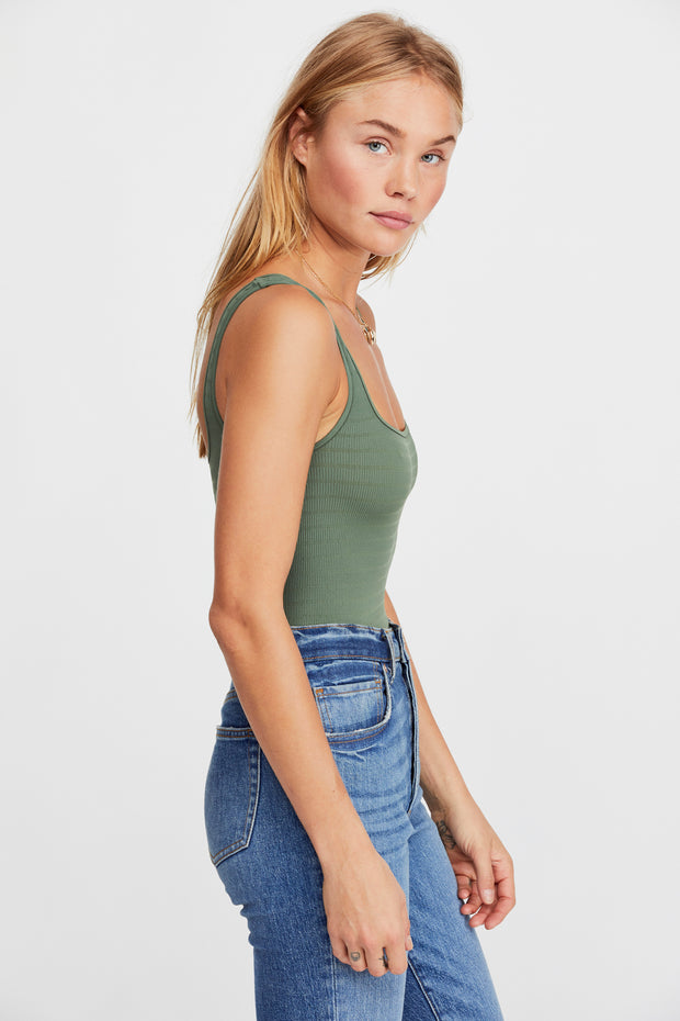Square One Seamless Cami- Moss