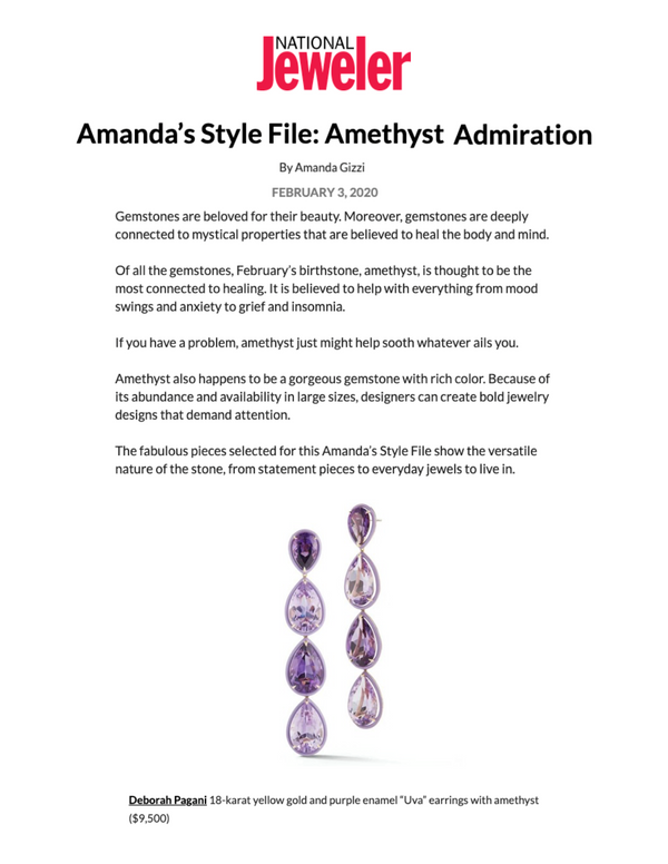 National Jeweler: Amethyst Admiration