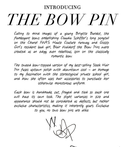 Introducing the Bow Pin
