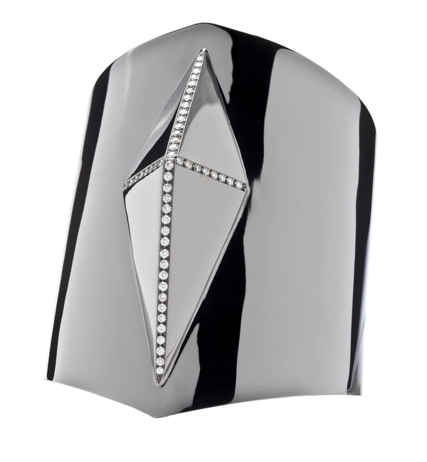 Pyramid Cuff Black Rhodium