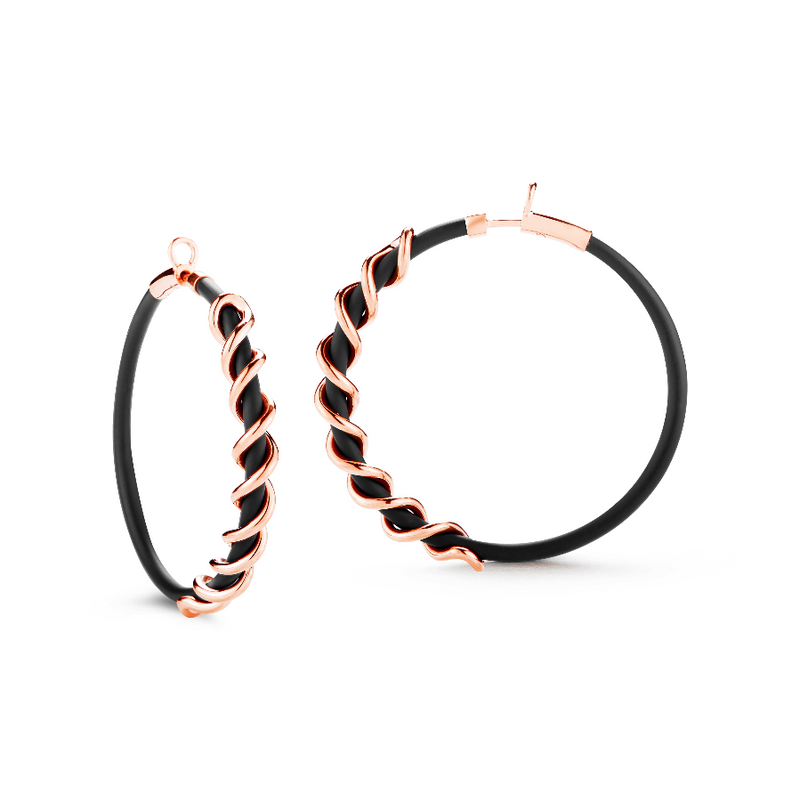 Small Coil Hoops Rose Gold