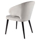 Harlow Black Dining Chair - Grey Velvet