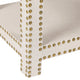 Serena Tufted Bench Ottoman - Natural Linen