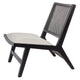 Palmer Rattan Black Occasional Chair - Natural Linen