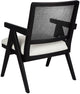 The Imperial Rattan Occasional Chair - Black Frame w White Linen