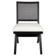 The Imperial Rattan Black Dining Chair - White Linen