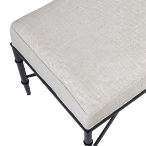 Hacienda Bench Ottoman - Natural Linen