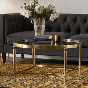 Jak Glass Coffee Table - Gold