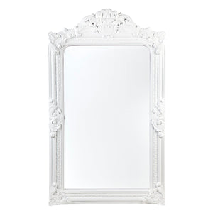 Elizabeth Floor Mirror - White