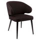 Harlow Black Dining Chair - Black Linen