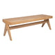Cuban Rattan Bench Ottoman - Natural
