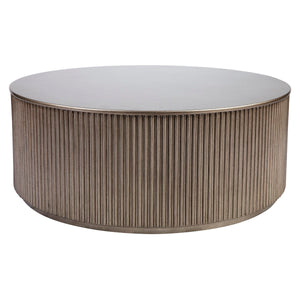 Nomad Round Coffee Table - Antique Gold