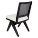 The Imperial Rattan Dining Chair - Black Frame w White Linen