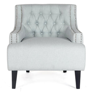 Skyler Tufted Occasional Chair - Ice Blue