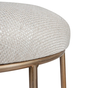 Aiden Gold Steel Kitchen Stool - Natural Linen