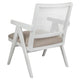 The Imperial Rattan White Occasional Chair - Natural Linen