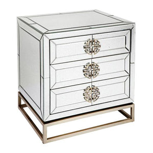Rochester Mirrored Bedside Table