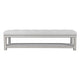 Serena Tufted Bench Ottoman - Cool Grey Linen