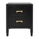 Soloman Bedside Table - Small Black